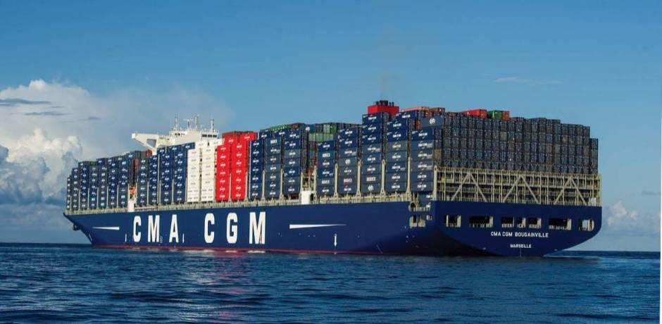 """سفينة حاملة للعلم المغربي تابعة للشركة العملاقة """"سي إم آ ـ سي جي إم"""" ترسو في أول توقف لها بميناء أكادير"""