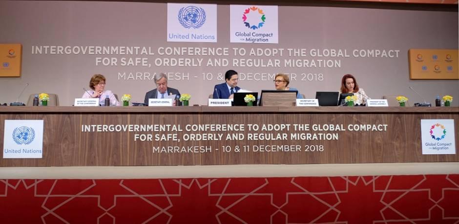 الدعوة بمراكش إلى اتخاذ الإجراءات اللازمة لتنزيل أهداف الميثاق الدولي حول الهجرة