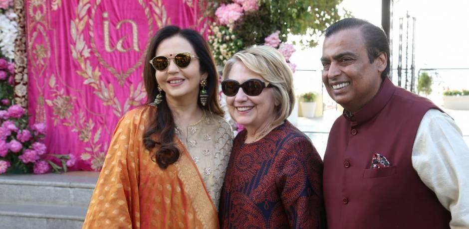 شخصيات بارزة تحضر زفاف ابنة أغنى رجل في الهند