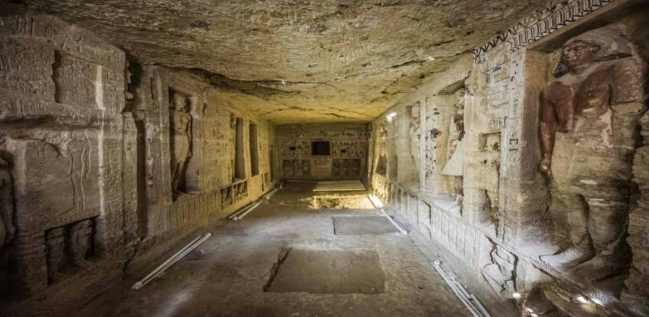 Egypte: découverte d'une tombe de plus de 4.400 ans à Saqqara