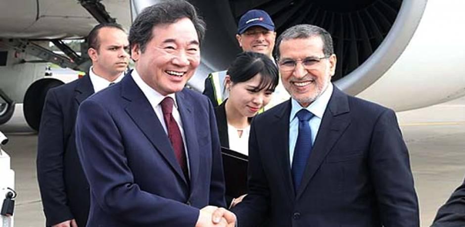 الوزير الأول بكوريا الجنوبية يصل إلى المغرب في زيارة عمل وصداقة
