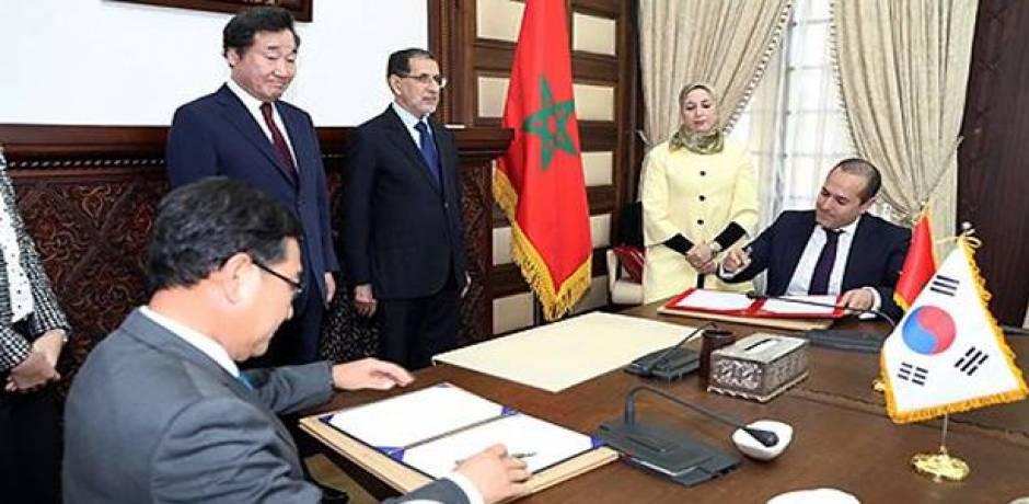 تفاصيل اتفاقيات التعاون الست الموقعة بين المغرب وكوريا الجنوبية