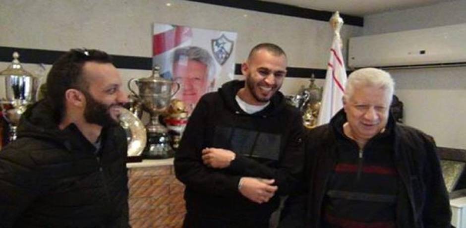 تفاصيل جلسة مرتضى منصور مع المغربي خالد بوطيب