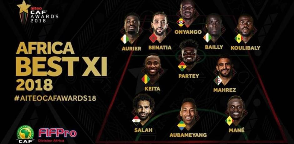 كرة القدم: إيفواريان اثنان ضمن التشكيلية المثالية لقارة إفريقيا لسنة 2018