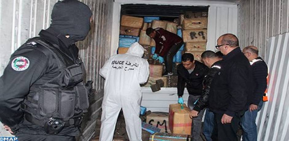 La quantité de drogue saisie mercredi à Tanger s'élève à plus de 15 tonnes de résine de cannabis (DGSN)