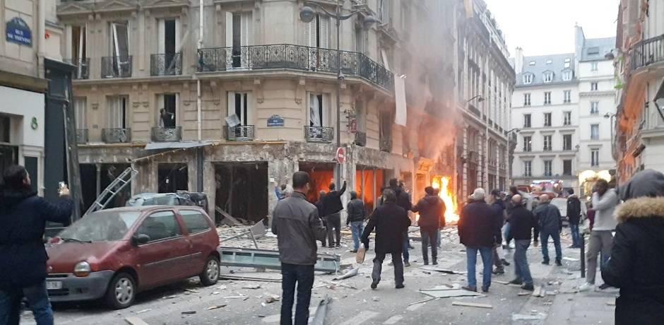 مقتل رجلي إطفاء بين المصابين في انفجار في مخبز في باريس