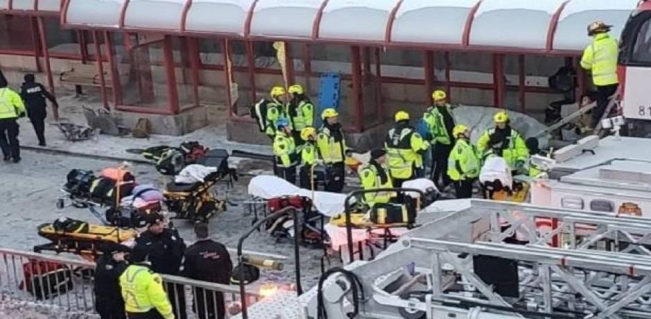 مصرع ثلاثة أشخاص وإصابة 23 آخرين بحادث تصادم حافلتين في كندا
