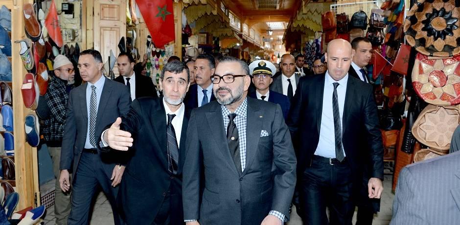 العاهل المغربي يقوم بزيارة عدد من المشاريع المندرجة في إطار برنامج تأهيل المدينة العتيقة للرباط
