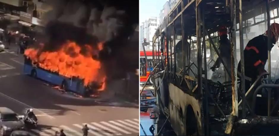 الدار البيضاء .. اندلاع حريق بحافلة للنقل العمومي