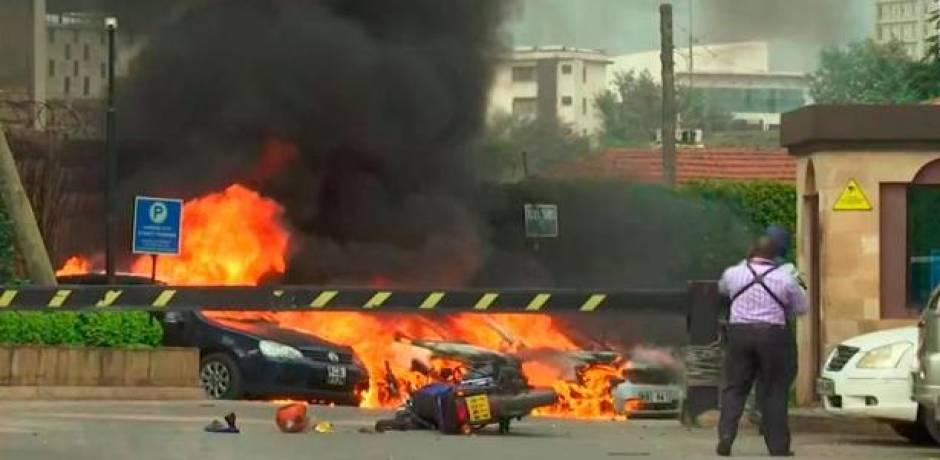 انفجار وإطلاق نار في مجمع يضم فندقا ومكاتب في نيروبي