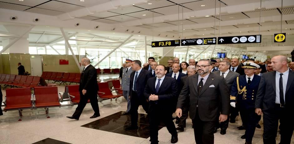 الملك محمد السادس يدشن المحطة الجوية 1 الجديدة لمطار محمد الخامس ويعطي انطلاقة تشغيل عدد من البنيات التحتية للمطارات ذات البعد الوطني
