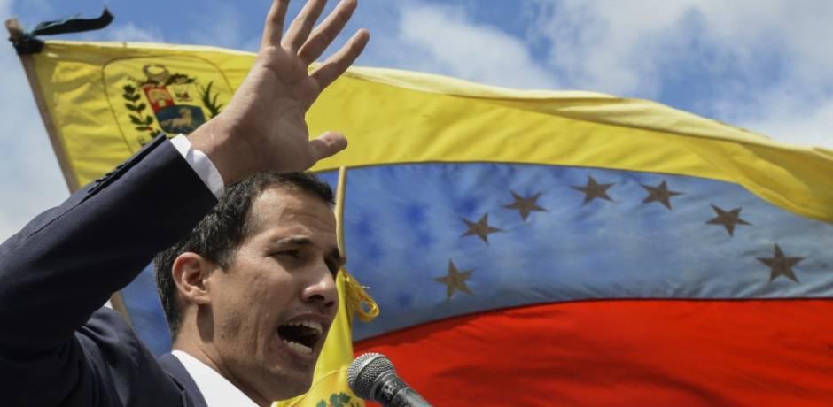 """غوايدو يصف منع الجيش دخول المساعدات إلى فنزويلا بـ """"جريمة ضد الإنسانية"""""""
