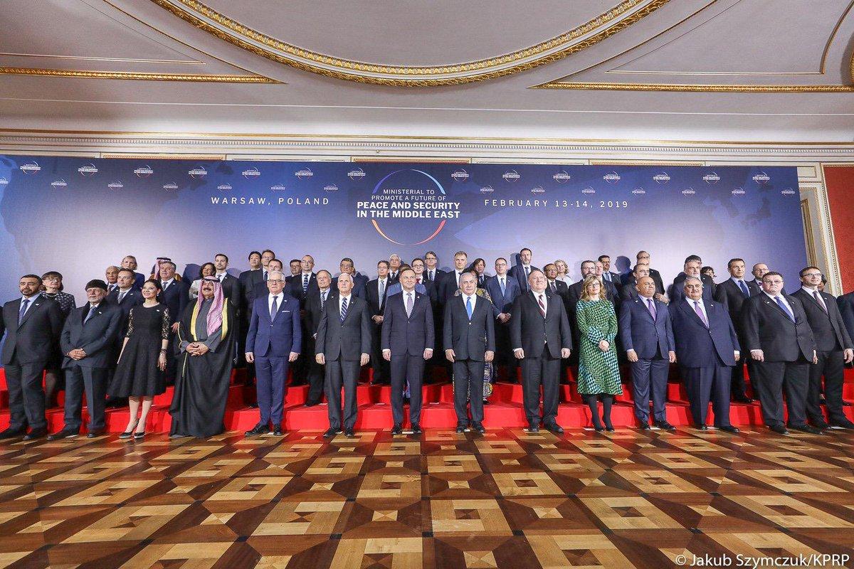 أجندة مؤتمر وارسو الذي تسعى من خلاله أمريكا لتشكيل تحالف ضد إيران تتصدر عناوين الصحافة العالمية