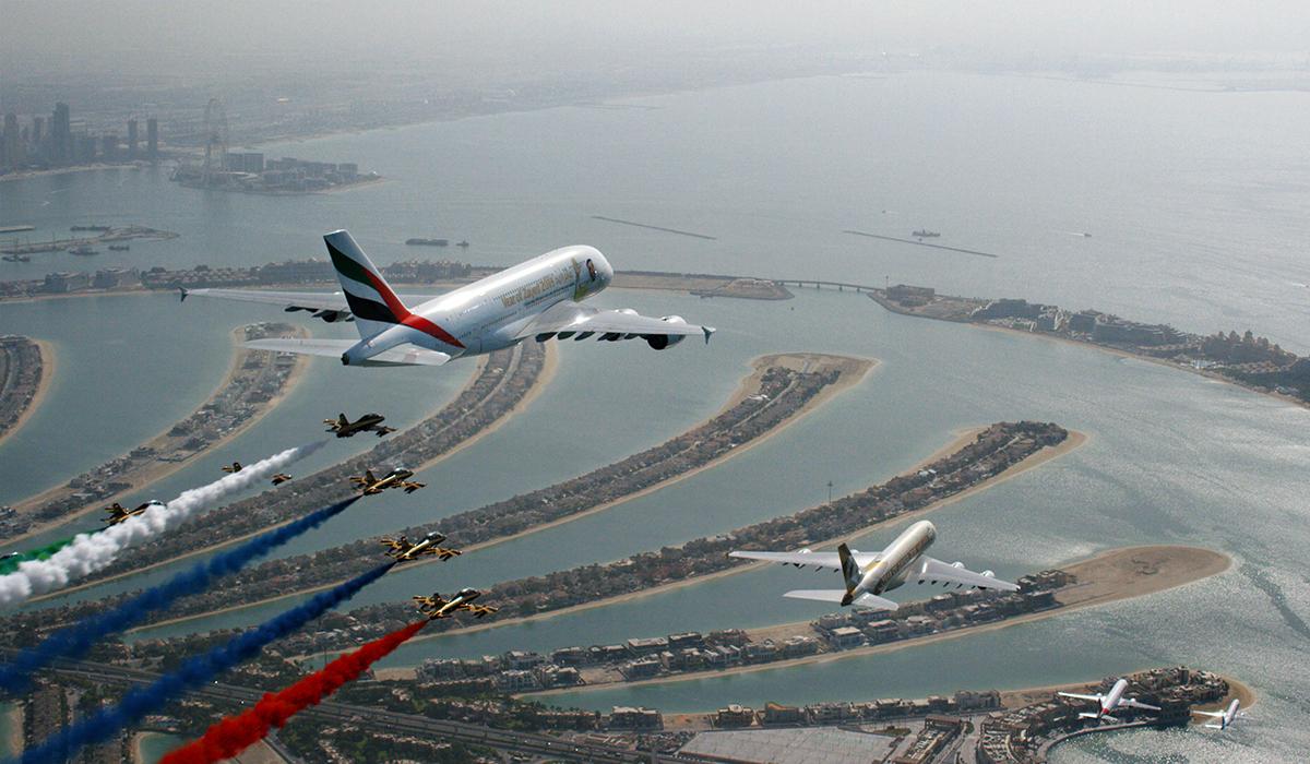 """""""طيران الإمارات"""" توقع صفقة مع """"إيرباص"""" لشراء 70 طائرة بقيمة 21.4 مليار دولار أمريكي"""