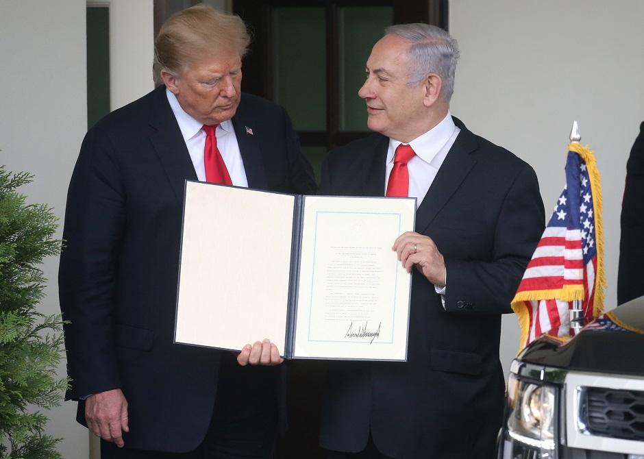 إدانة دولية لقرار ترامب الاعتراف بسيادة إسرائيل على هضبة الجولان المحتلة