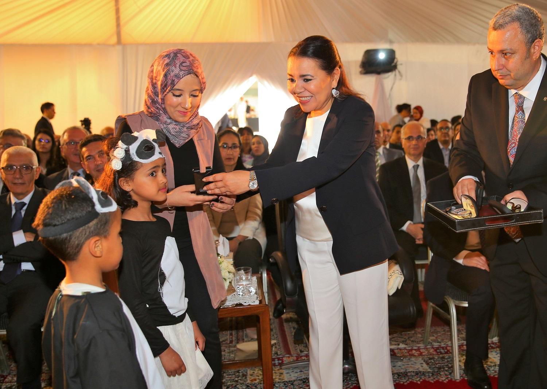 الأميرة للا أسماء تترأس حفل نهاية السنة الدراسية 2018 -2019 لمؤسسة للا أسماء للأطفال والشباب الصم