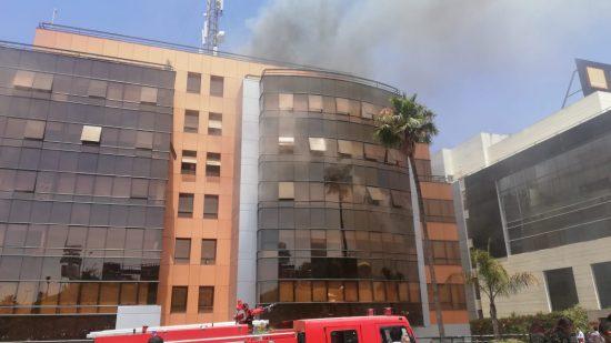 الدارالبيضاء.. اندلاع حريق بالمقر الاجتماعي لأحد الفاعلين في قطاع الاتصالات