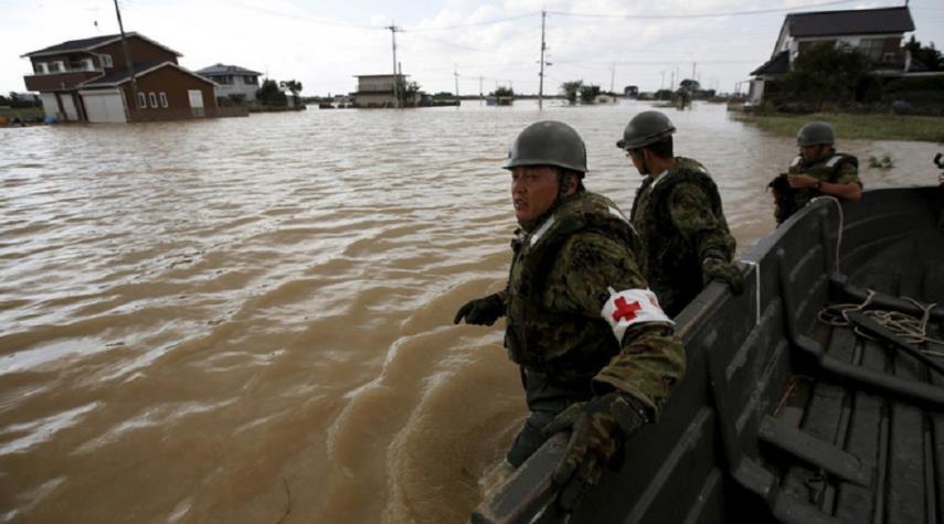 اليابان تأمر بإجلاء مليون شخص بسبب السيول