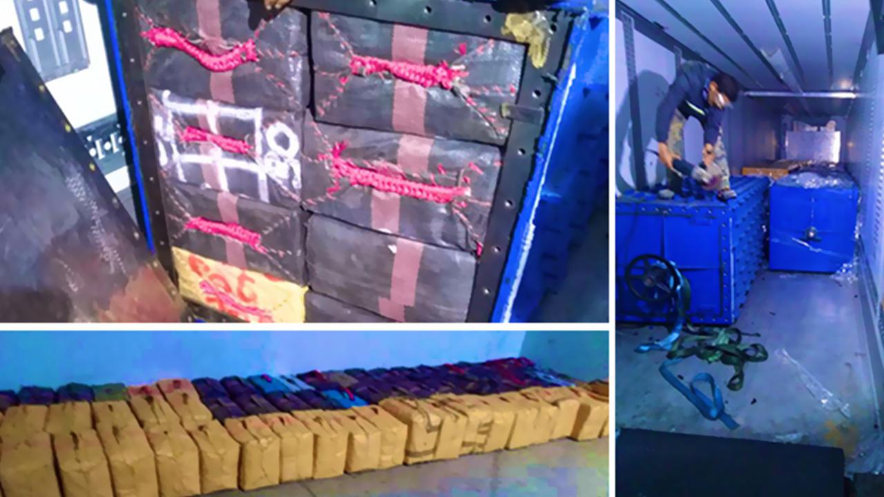ميناء طنجة المتوسط: إحباط محاولة لتهريب شحنة قياسية من المخدرات وزنها 27 طنا و300 كلغ من مخدر الشيرا