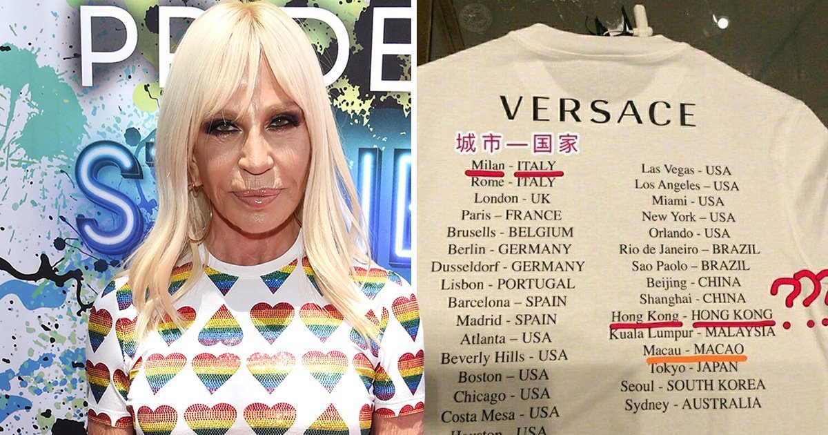 دار فرساتشي تثير أزمة في الصين بسبب قميص !