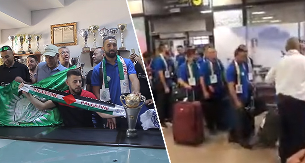 """جماهير الرجاء تستقبل هلال القدس بأغنية """"رجاوي فلسطيني"""""""