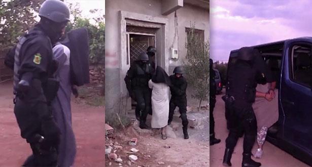 """فيديو لعملية تفكيك خلية إرهابية موالية لـ """"داعش"""" تنشط بين بركان والناظور"""
