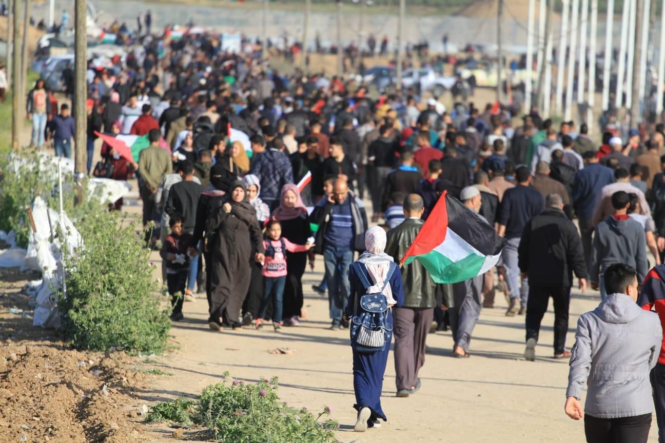 """غزة..فلسطينيون يشاركون في جمعة """"حماية الجبهة الداخلية"""""""
