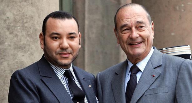 وفاة جاك شيراك .. برقية تعزية من الملك محمد السادس إلى كلود شيراك