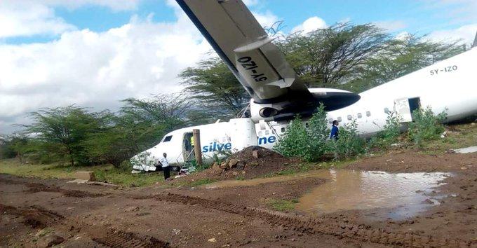 نجاة 55 راكبا من حادث تحطم طائرة في نيروبي (صور وفيديو)
