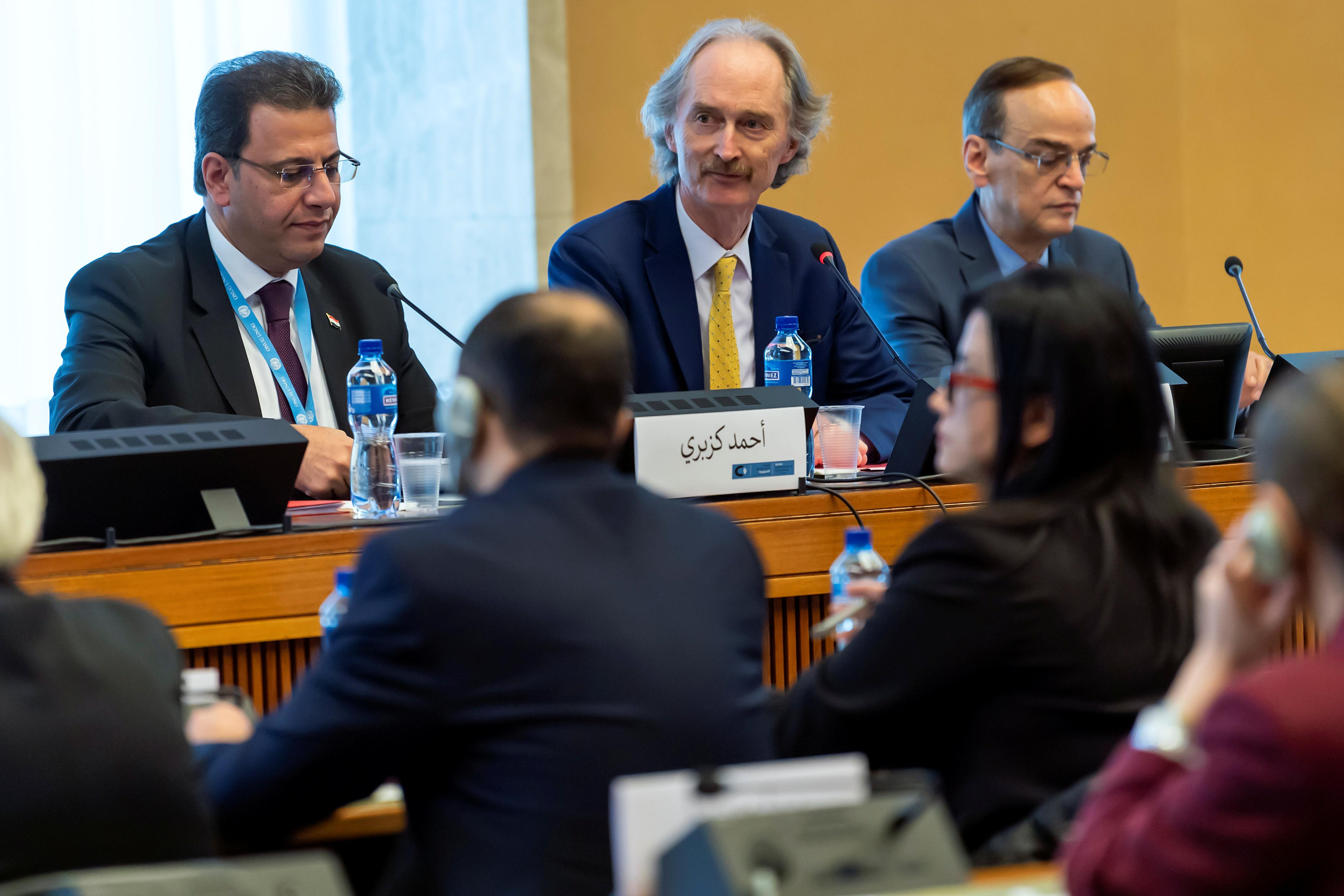 جنيف تحتضن أولى مشاورات إعداد دستور سوريا