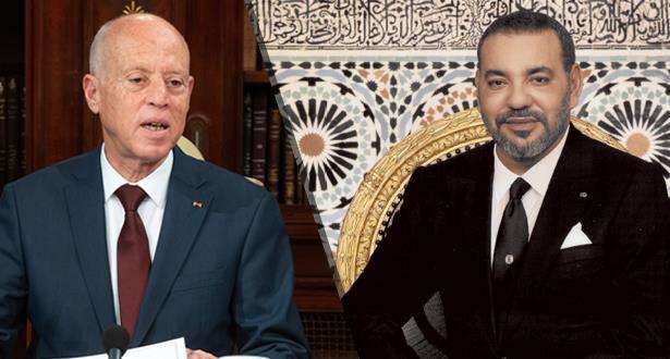 الملك محمد السادس يجري مباحثات هاتفية مع رئيس الجمهورية التونسية